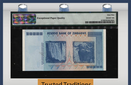 TT PK 091* 2008 ZIMBABWE 100 TRILLION DOLLARS STAR REPLACEMENT NOTE PMG 69 EPQ !!