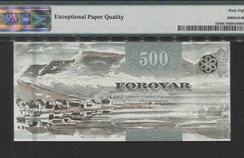 "TT PK 0032 2011 FAEROE ISLANDS 500 KRONUR ""CRAB"" POP FOUR PMG 68 EPQ SUPERB GEM"