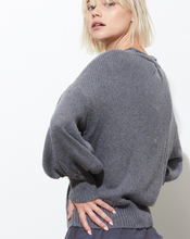 Elsie Drop-Shoulder Crew Sweater
