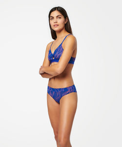 Cheeky Sheer Panty- Cobalt Blue