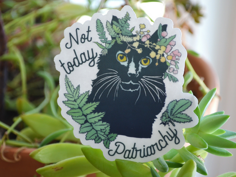 Not Today Patriarchy: Feminist Laptop Sticker