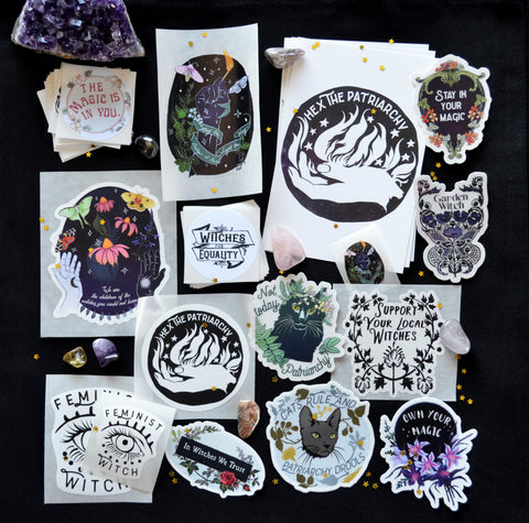 Witch Sticker Set: The Complete Feminist Witch Set
