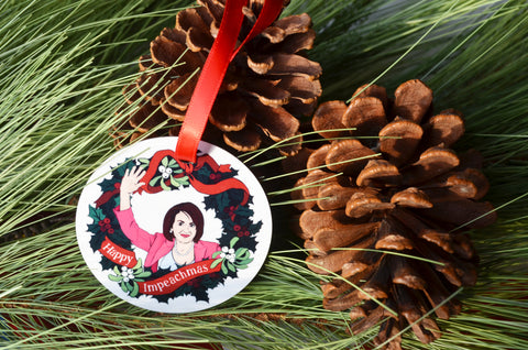 Happy Impeachmas, Nancy Pelosi: Christmas Ornament