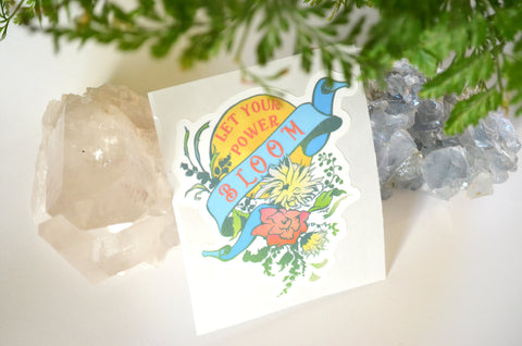 Let Your Power Bloom: Self Care Laptop Sticker