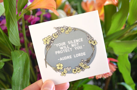 Your Silence Will Not Protect You, Audre Lorde: Feminist Laptop Sticker