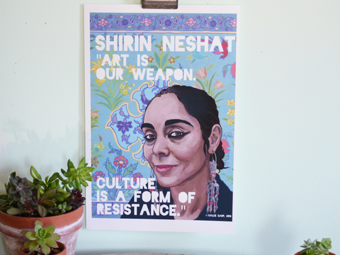 Art Is Our Weapon, Shirin Neshat: Feminist Print