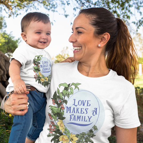 Love Makes A Family: Unisex Adult Shirt
