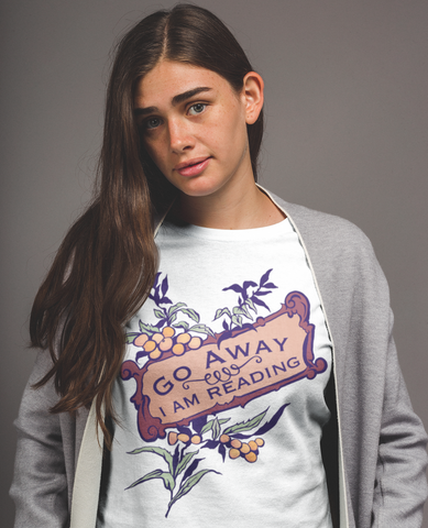 Go Away I Am Reading: Unisex Sweatshirt