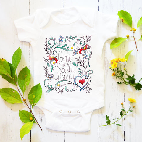 Gender Is A Social Construct: Baby Bodysuit