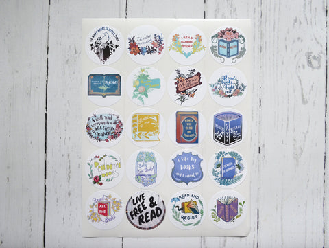Banned Books Sticker Set