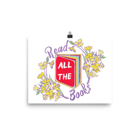 Read All The Books: Bibliophile Print