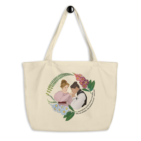 Don't Hurt Me, I'm Not As Strong As You Think I Am: Anne Lister, Large organic tote bag