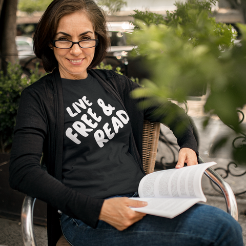 Live Free And Read: Unisex Adult Shirt