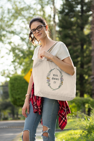 Rise Above It: Anne Lister, Gentleman Jack, Large organic tote bag