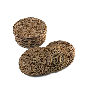 Bali Coaster Holder with 6 Coasters