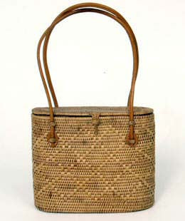 Peggy Fisher Wayan Tote, Lidded, Sm