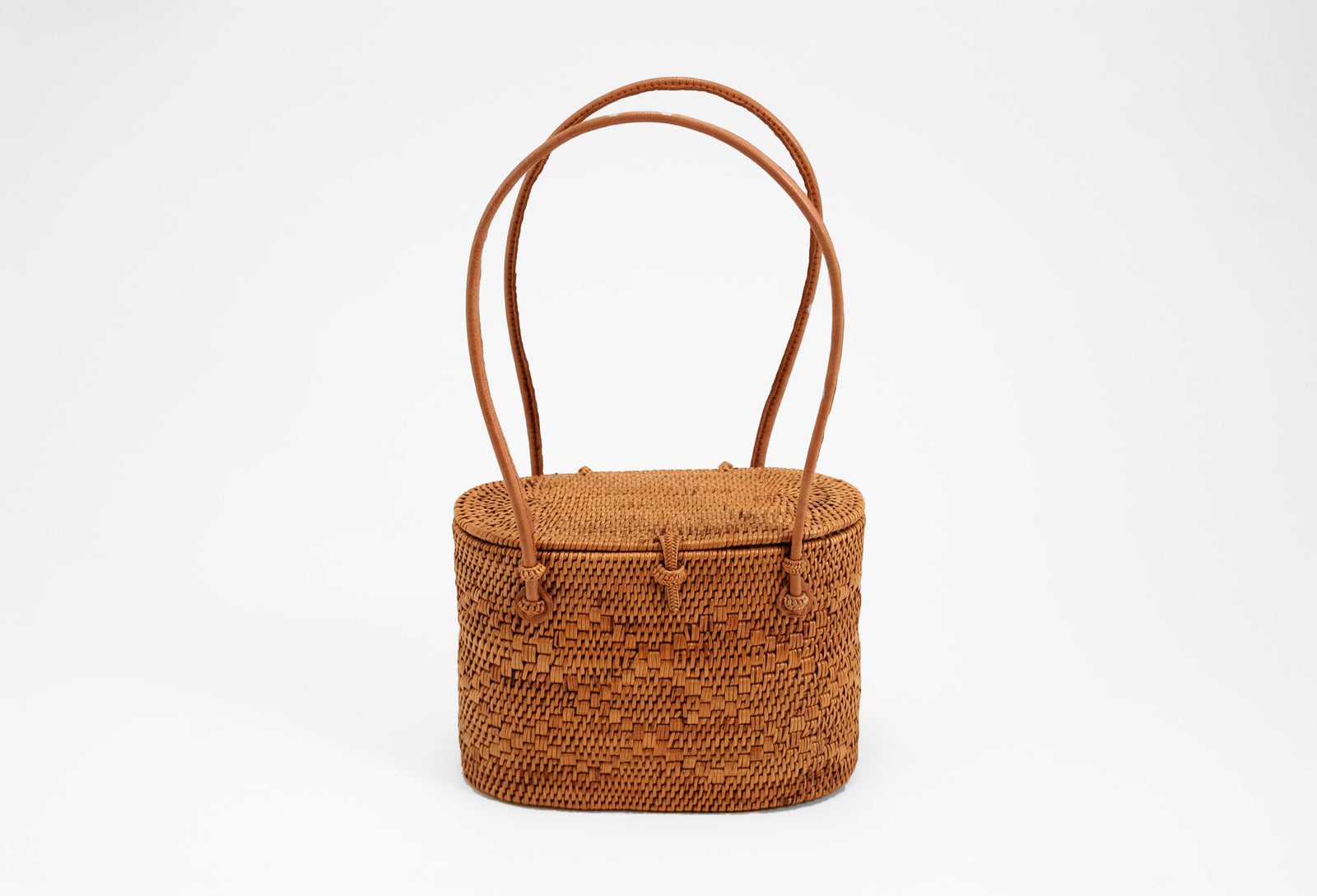 Peggy Fisher Wayan Tote Lidded Small