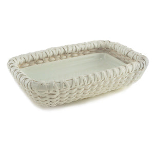 Nantucket Soap Dish, White
