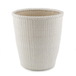 White Oval Waste Basket w/liner
