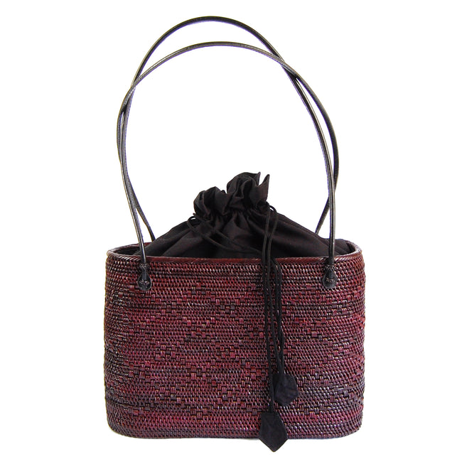 Peggy Fisher Black Cherry Tote w/ Drawstring Liner