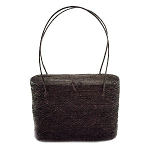 Peggy Fisher Black Lidded Tote