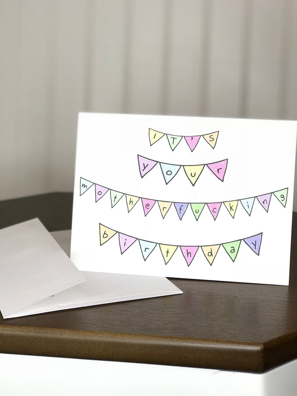 funny birthday card horizontal fold it's your motherfucking birthday funny greeting cards
