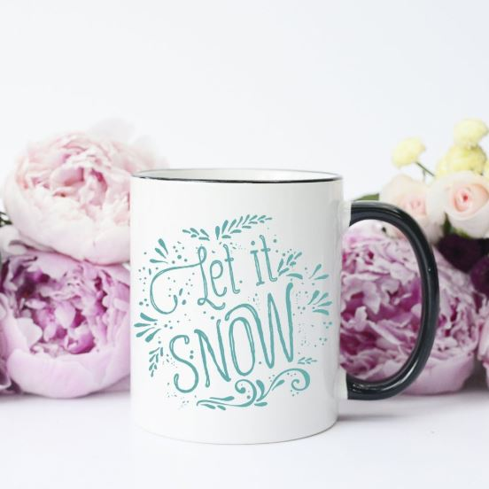 winter holiday christmas mug let it snow gift idea
