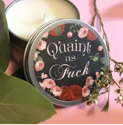 funny candle gift ideas quaint as fuck quaint af soy candle