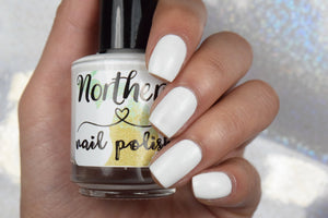 white nail polish french manicure pedicure vegan toxin free handmade cruelty free nail polish gift idea christmas