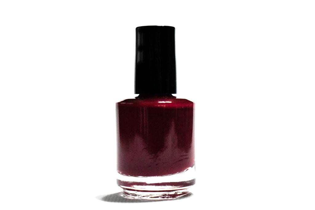 Gorgeous dark red wine polish manicure pedicure natural toxin free vegan cruelty free handmade gift idea christmas