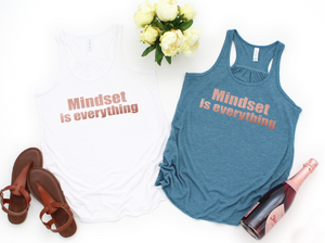 beachbody apparel mindset is everything workout tank graphic tank inspiration