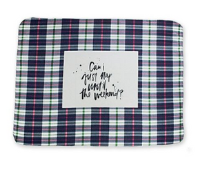 blue plaid fleece blanket nap blanket can I just nap until the weekend cozy blanket