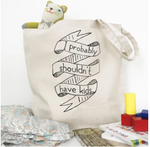 cotton canvas tote probably shouldn't have kids farmers market tote grocery bag diaper bag