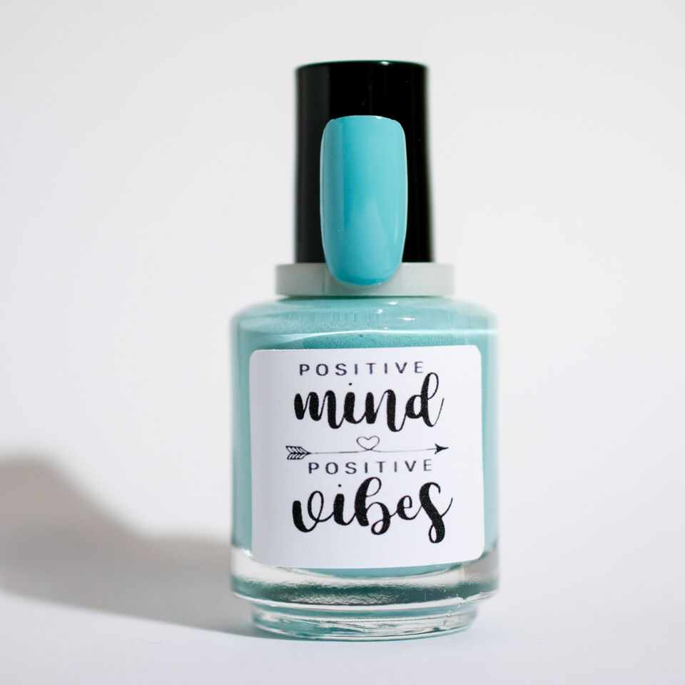 light blue mint blue nail polish positive mind positive vibes polished state of mind northern nail polish