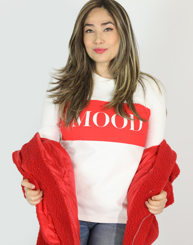 RED MOOD SWEATSHIRT