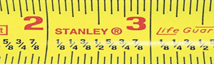 yellow tape measure with fractions