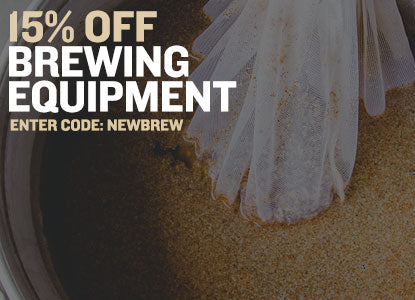 15% Off Brewing Equipment. Promo Code NEWBREW