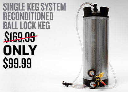 Single Keg Sytem with Reconditioned Ball Lock Keg Only $99