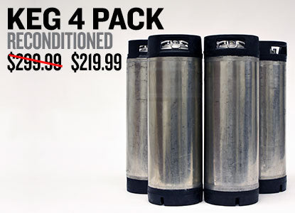 4 Pack of Reconditioned Kegs