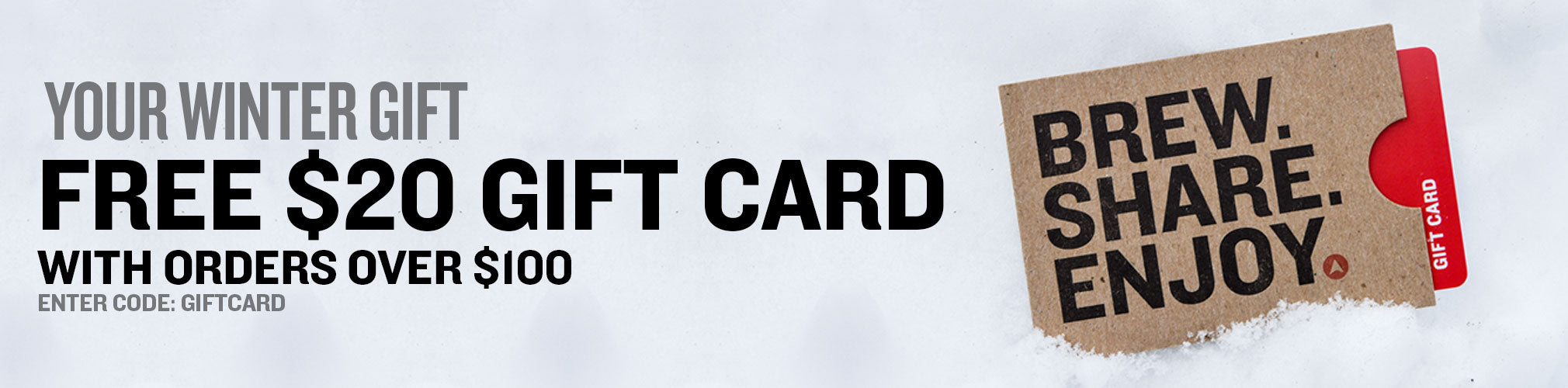 Free $20 Gift Card with Orders Over $200