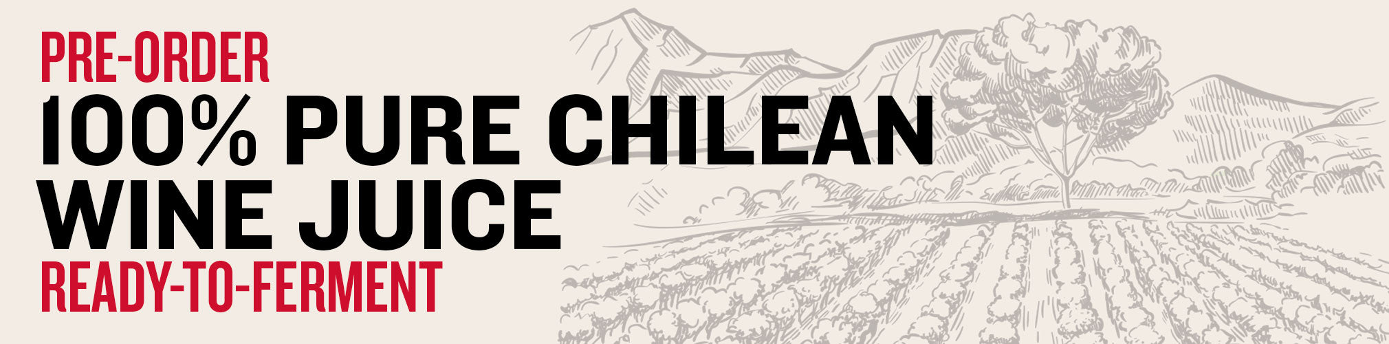 100% Pure Chilean Wine Juice available for in-store pickup at our sister-store Midwest Supplies