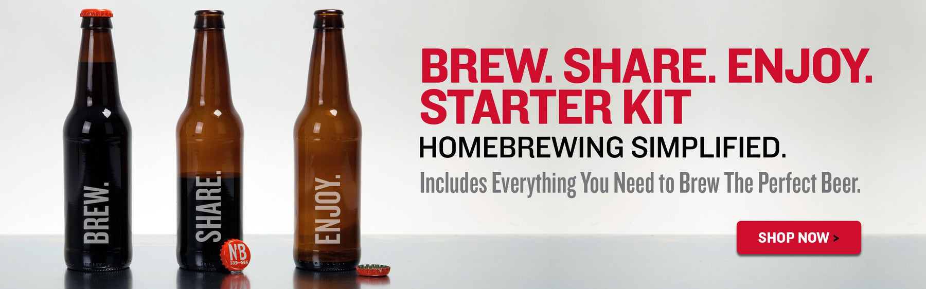 Brew. Share. Enjoy® Capping Bottles