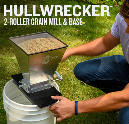 Hullwrecker™ 2-roller Grain Mill & Base