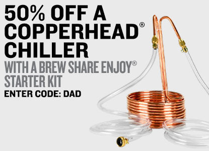 50% Off Copperhead Chiller With Brew Share Enjoy Homebrew Starter Kit