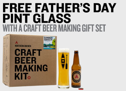 Free Pint Glass With Limited Edition Craft Beer Making Gift Set