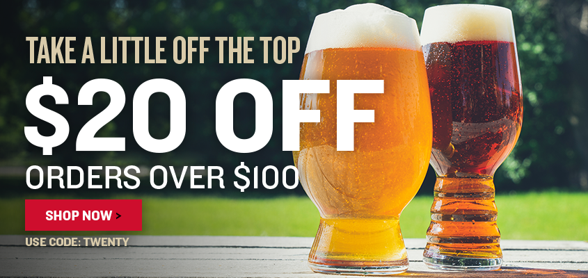Take a little off the top. $20 off orders over $100. Use code TWENTY