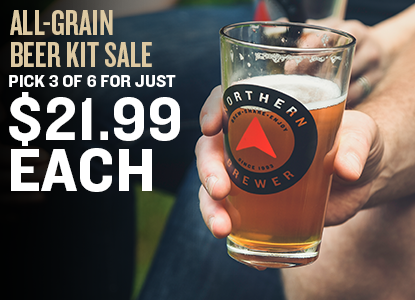 All Grain Beer Kit Sale!  3 Kits for Just $21.99 Each!