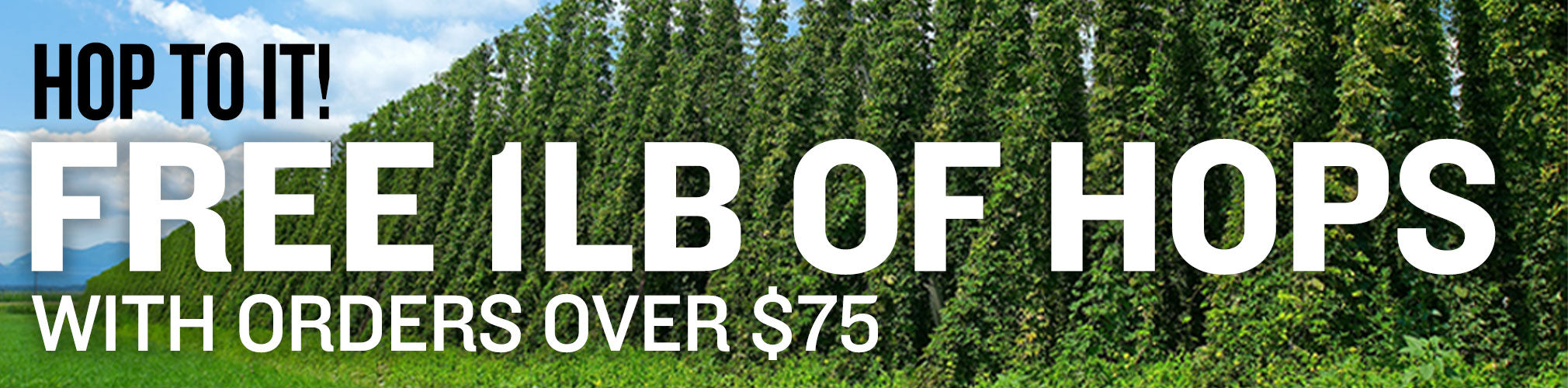 Free 1 lb of Select Hops With Orders Over $75