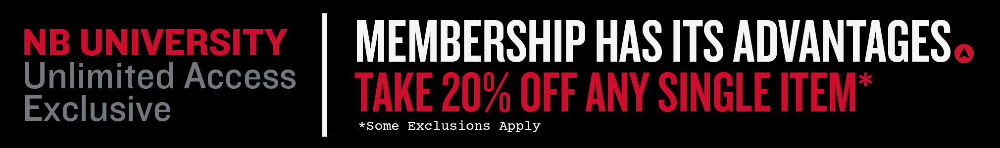 20% Off a Single. Use your exclusive email code.