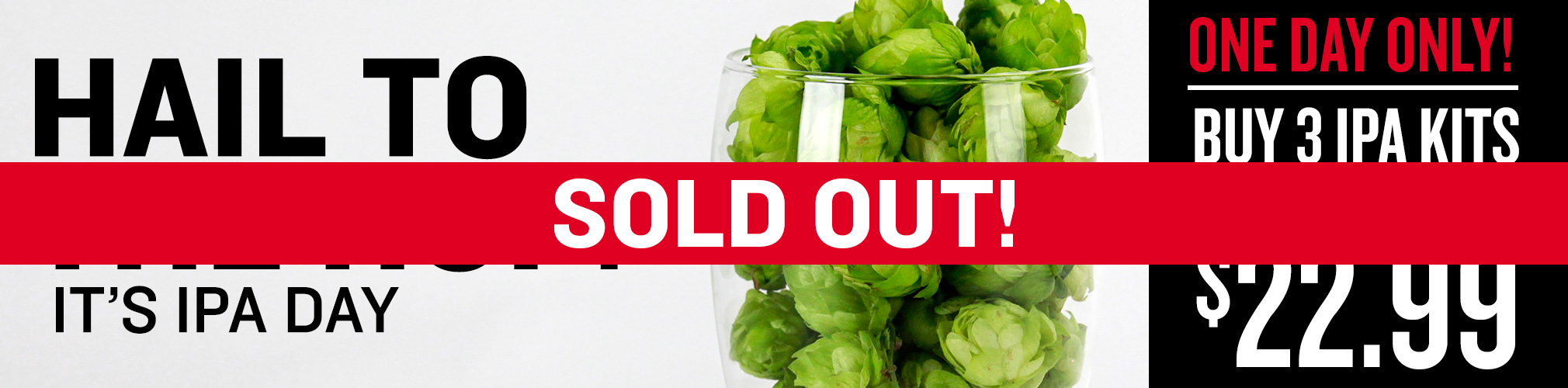 IPA Day Sale is SOLD OUT